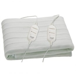 Adler Number of heating levels 2, Number of persons 2, Washable, Remote control, Polar fabric, 2x60 W, White
