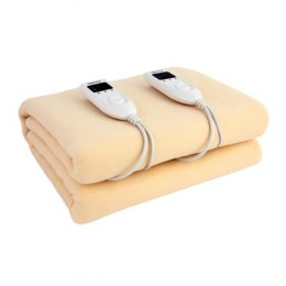 Camry Electric blanket CR 7408 Number of heating levels 5, Number of persons 2, Washable, Soft polar fleece, 2 x 60 W, Beige