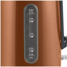 Bosch Kettle TWK4P439 Electric, 2400 W, 1.7 L, Stainless steel, Copper, 360° rotational base