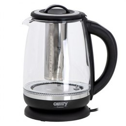 Camry Kettle CR 1290 Standard, 2200 W, 2 L, Plastic/glass, Black/Transparent, 360° rotational base