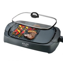 Adler Electric Grill AD 6610 Table, 3000 W, Black, Glass lid