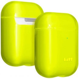 LAUT CRYSTAL-X for AirPods 1/2 Acid Yellow, Polycarbonate, Charging Case, Anti-scratch coating