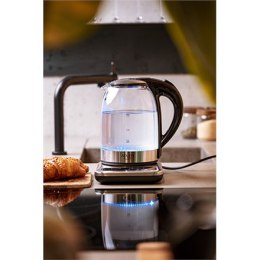 Adler Kettle AD 1293 Electric, 2200 W, 1.7 L, Plastic/Glass, Grey/Transparent, 360° rotational base