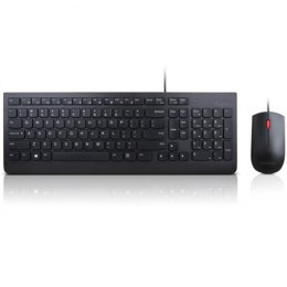 Lenovo Essential Keyboard and Mouse Combo 4X30L79922 Wired, USB, Keyboard layout US with EURO symbol, USB, Black, No, Mouse incl