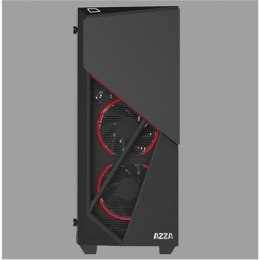 AZZA Inferno 310, with RGB fans, Tempered Glass Side window, USB 3.0 x2, Spk x1, Mic x1, Black, ATX, Power supply included No
