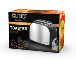Camry Toaster CR 3208 Grey/black, Plastic, 750 W, Number of slots 2, Number of power levels 1