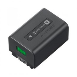 Sony Compact V-series InfoLITHIUM rechargeable battery with 7.3V mean output and 6.9Wh (950mAh) capacity. NP-FV50A