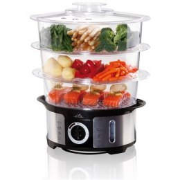 ETA Steam cooker ETA013490000 Black/ stainless steel, 1000 W, Capacity 12.25 L, Number of baskets 3