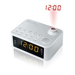 Muse Clock radio M-178PW White, 0.9 inch amber LED, with dimmer