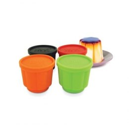 Yoko Design 1139-6701S Jelly forms, Black/Orange/Red/Green, Capacity 0.11 L, Diameter 6,5 cm