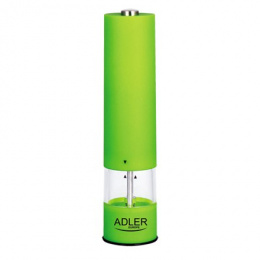 Adler AD 4435 Pepper mill, Ceramic quern, Green Adler Adler AD 4435 Pepper mill, Housing material Plastic, 4x batteries type AA