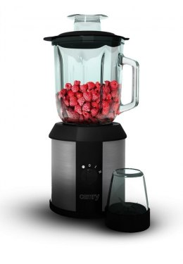 Blender Camry Black/Stainless steel, 1500 W, Glass, 1.3 L, Ice crushing, Mill,
