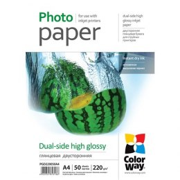 ColorWay High Glossy dual-side Photo Paper, 50 sheets, A4, 220 g/m²