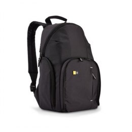 Case Logic DSLR Compact Backpack Black, Unique fold-out camera storage with dual zippers and protective flap allows for quick ac