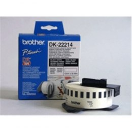 Brother DK-22214 Continuous Length Paper Label Black, White, DK, 12mm, 30.5 m