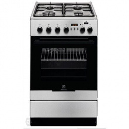 Electrolux Cooker EKK 54952 OX Hob type Gas, Oven type Electric, Stainless steel, Width 50 cm, Electronic ignition, Grilling, El