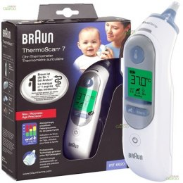 Braun ThermoScan 7 Age Precision Ear Thermometer IRT6520 Memory function, Measurement time 5 s, White