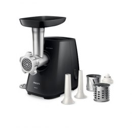 Philips Meat Mincer HR2721/00 Black, Number of speeds 1, Throughput (kg/min) 2.3, Slicing and cutting drums are added. Nozzle fo