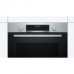 Bosch Oven HBA537BS0S Built-in, 71 L, Black/ stainless steel, Eco Clean, A, Push pull buttons, Height 60 cm, Width 60 cm, Integr
