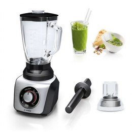 Bosch SilentMixx MMB64G6M Black/Stainless steel, 800 W, Glass, 2.3 L, Ice crushing, Mini chopper, Type Tabletop