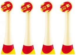 ETA Toothbrush replacement For kids, Heads, Number of brush heads included 4, Yellow/ Red