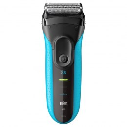 Braun Electric Shaver 3010s Wet use, Rechargeable, Charging time 1 h, Ni-MH, Batteries, Blue