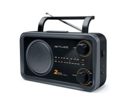 Muse 2-bands portable radio M-06DS Grey, AUX in
