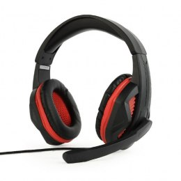 Gembird Gaming headset with volume control, matte black