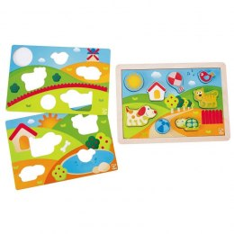 HAPE Sunny Valley Puzzle 3 in 1, E1601A
