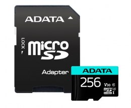 ADATA Premier Pro UHS-I U3 256 GB, micro SDXC, Flash memory class 10, with Adapter
