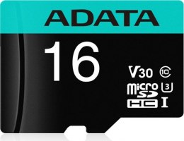 ADATA Premier Pro UHS-I U3 16 GB, Micro SDHC, Flash memory class 10, with adapter