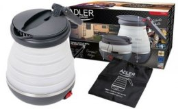 Adler Silicon travel foldable kettle AD 1279 Foldable, Silicon, White, 750 W, 0.6 L