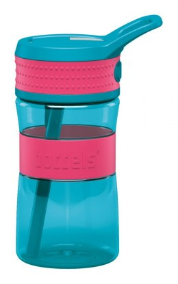 Boddels EEN Drinking bottle Bottle, Raspberry red/Turqouise blue, Capacity 0.4 L, Bisphenol A (BPA) free