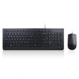 Lenovo Keyboard and Mouse Combo, Wired, Keyboard layout English/Lithuanian, Black