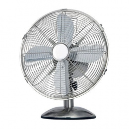 Termozeta TZMA01 Table Fan, Number of speeds 3, 35 W, Chrome