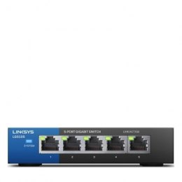 Linksys Swicth LGS105 Unmanaged, Desktop, 1 Gbps (RJ-45) ports quantity 5, Power supply type External