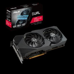 Asus DUAL-RX5700-O8G-EVO AMD, 8 GB, Radeon RX 5700, GDDR6, PCI Express 4.0, Processor frequency 1675 MHz, Memory clock speed 140