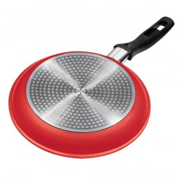 Stoneline Gourmundo 18254 Frying Pan, 28 cm, Glass ceramics, induction, electric, gas, Red, Non-stick coating,