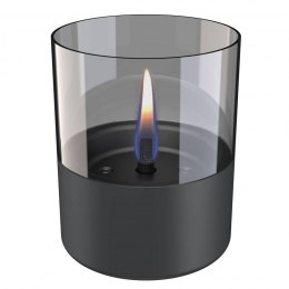 Tenderflame Table burner Lilly 1W Glass Diameter 10 cm, Height 12 cm, 200 ml, 7 hours, Dark grey