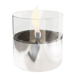 Tenderflame Table burner Lilly 1W Glass Diameter 10 cm, Height 12 cm, 200 ml, 7 hours, Silver