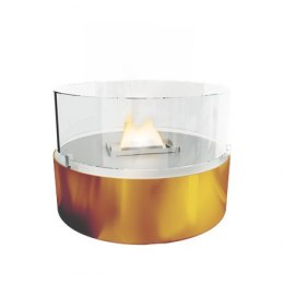 Tenderflame Table burner Cafe FlatWick metal Diameter 13 cm, 18 cm, 300 ml, 5 hours, Copper