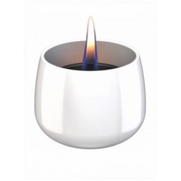 Tenderflame Table burner Crocus 1W Glass Diameter 9.5 cm, Height 7.5 cm, 200 ml, 8 hours, White