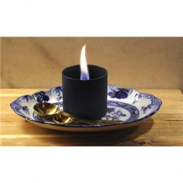 Tenderflame Table burner Lilly 1W Glass Diameter 8 cm, Height 7.5 cm, 150 ml, 4.5 hours, Black