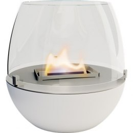 Tenderflame Table burner Tulip FlatWick Diameter 14 cm, 14 cm, 300 ml, 5 hours, White