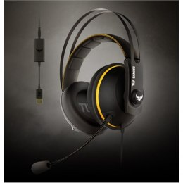 Asus 3.5 mm, USB, TUF GAMING H7, Yellow/Black, Built-in microphone