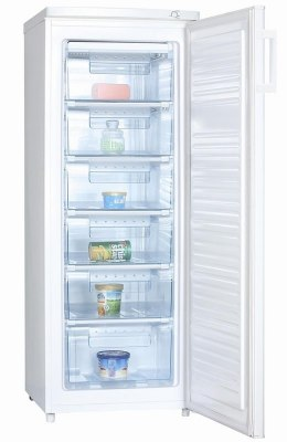 Goddess Freezer GODFSC0143TW8 A+, Upright, Free standing, Height 143 cm, Total net capacity 163 L, White