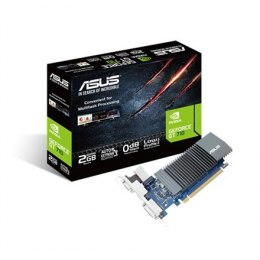 Asus NVIDIA, 1 GB, GeForce GT 710, GDDR5, PCI Express 2.0, Cooling type Passive, Processor frequency 954 MHz, VGA (D-Sub) ports