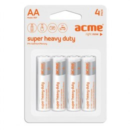 Acme R6P Super Heavy Duty Batteries AA/LR6, Zinc Chloride, 4 pc(s)