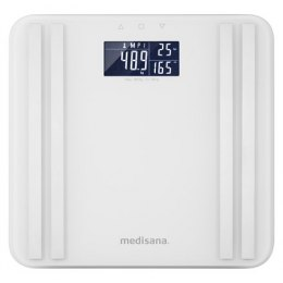 Medisana Body Analysis Scale BS 465 Memory function, White, Body fat analysis, Body water percentage, Auto power off, Multiple u