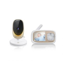 Motorola Comfort 40 Connect Baby Monitor, White/Gold